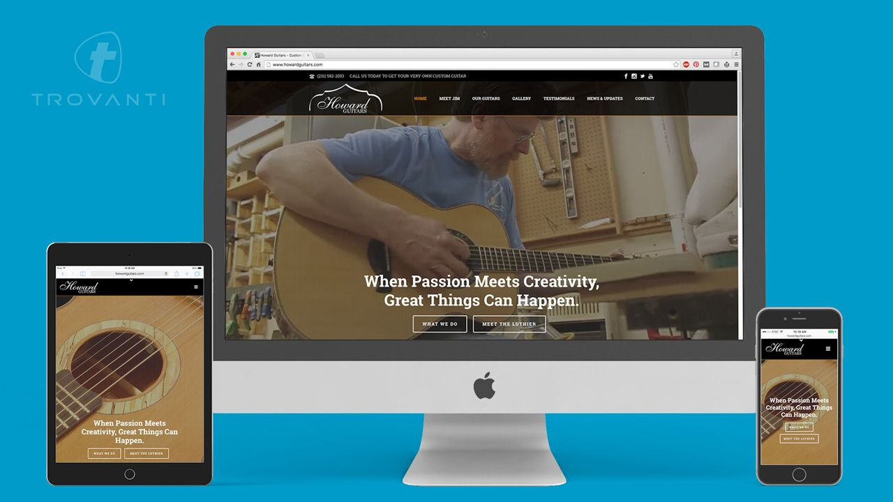 guitar company website design