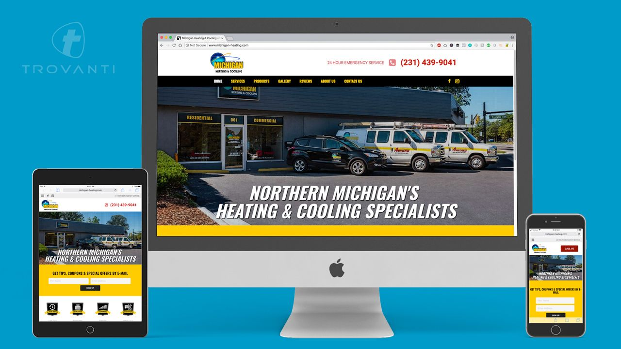 home service contractor hvac web design