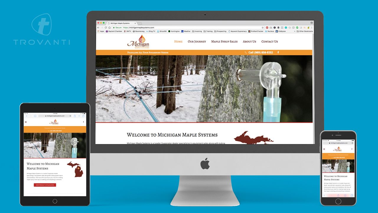 maple syrup website design