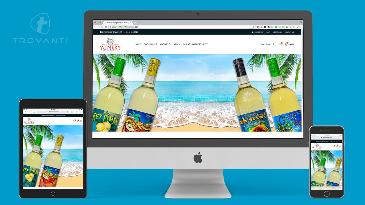 Winery Web Design Sample